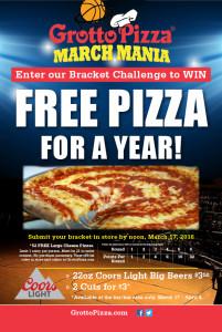 Grotto Pizza March Madness 2016