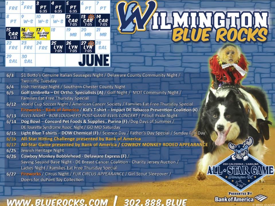June Preview Wilmington Blue Rocks Baseball
