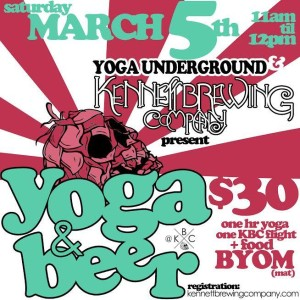 Beer and Yoga at Kennett Brewing Company